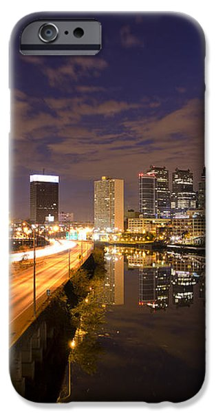 Philadelphia Cityscape from South Street at Night iPhone Case by Bill Cannon
