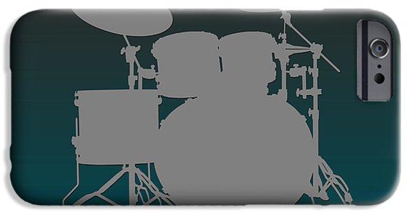 Drum Sets iPhone Cases - Philadelphia Eagles Drum Set iPhone Case by Joe Hamilton