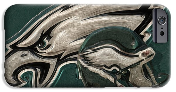 Division iPhone Cases - Philadelphia Eagles iPhone Case by Jack Zulli