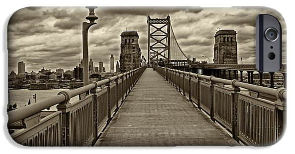 City Scape Photographs iPhone Cases - Philadelphia from Ben Franklin Bridge 1 iPhone Case by Jack Paolini