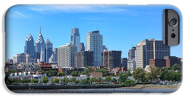 Center City iPhone Cases - Philadelphia Living iPhone Case by Olivier Le Queinec