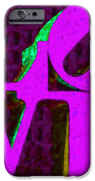 Philadelphia LOVE - Painterly v2 iPhone Case by Wingsdomain Art and Photography