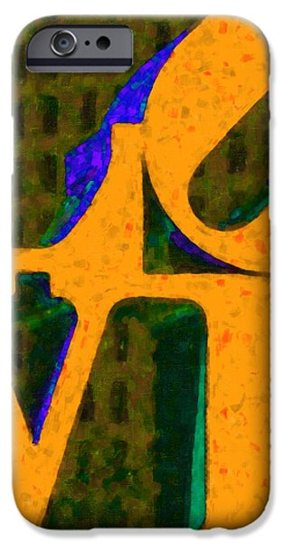 Philadelphia LOVE - Painterly v4 iPhone Case by Wingsdomain Art and Photography