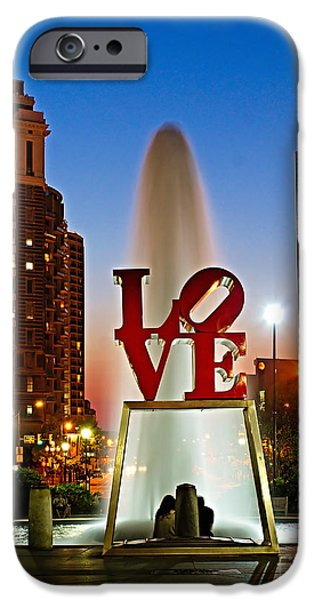 Public iPhone Cases - Philadelphia LOVE Park iPhone Case by Nick Zelinsky