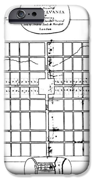 PHILADELPHIA: MAP, 1683 iPhone Case by Granger
