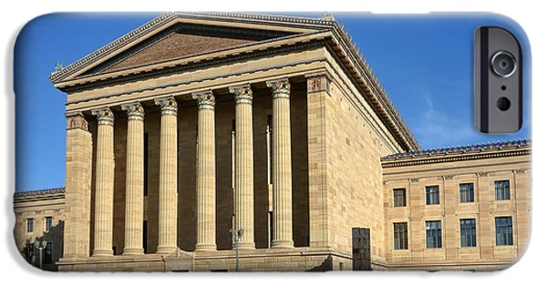 Facade iPhone Cases - Philadelphia Museum of Art Rear Facade iPhone Case by Olivier Le Queinec