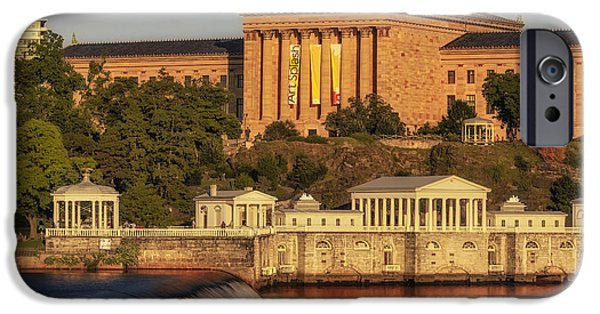 Recently Sold -  - Franklin iPhone Cases - Philadelphia Museum of Art iPhone Case by Susan Candelario