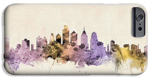 United States iPhone Cases - Philadelphia Pennsylvania Skyline iPhone Case by Michael Tompsett