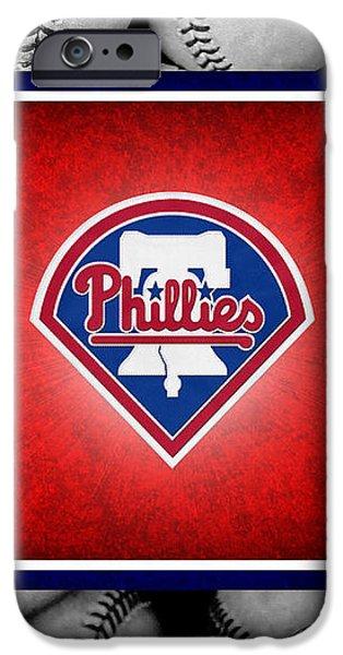 PHILADELPHIA PHILLES iPhone Case by Joe Hamilton