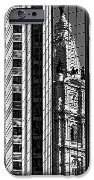 Building iPhone Cases - Philadelphia Reflections - BW iPhone Case by Susan Candelario