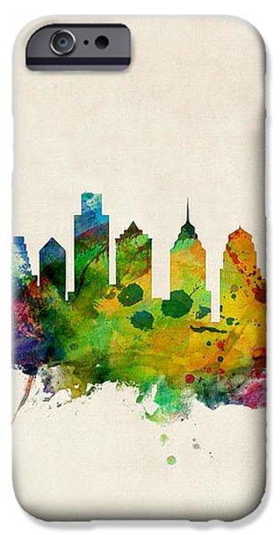 Philadelphia Skyline iPhone Case by Michael Tompsett