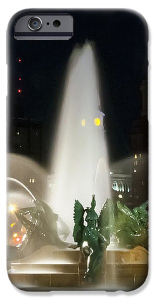 Philadelphia - Swann Fountain - Night iPhone Case by Bill Cannon
