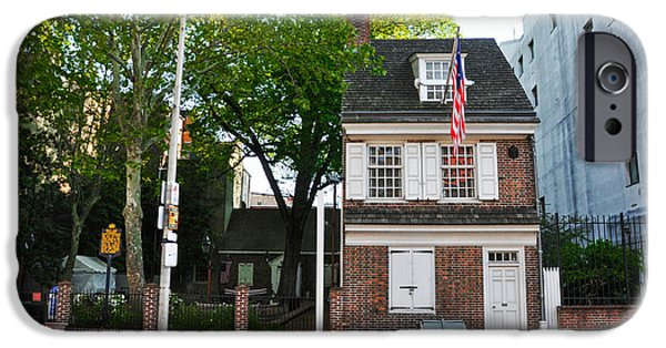 Betsy Ross iPhone Cases - Philadelphia - The Betsy Ross House iPhone Case by Bill Cannon
