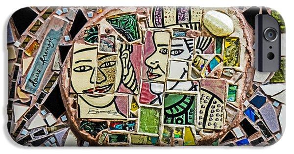 Vato iPhone Cases - Philadelphia Tile Art Graffiti iPhone Case by Gary Keesler