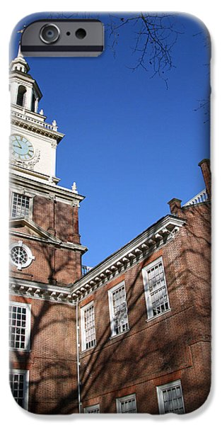 Cora Wandel iPhone Cases - Philadelphias Independence Hall iPhone Case by Cora Wandel