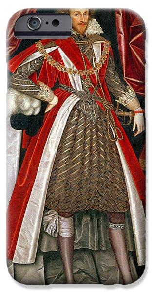 Montgomery iPhone Cases - Philip Herbert, 4th Earl Of Pembroke, C.1615 iPhone Case by William Larkin