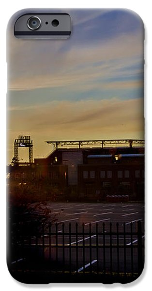 Phillies Citizens Bank Park at Dawn iPhone Case by Bill Cannon