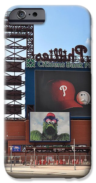 Baseball. Philadelphia Phillies iPhone Cases - Phillies Citizens Bank Park - Baseball Stadium iPhone Case by Bill Cannon