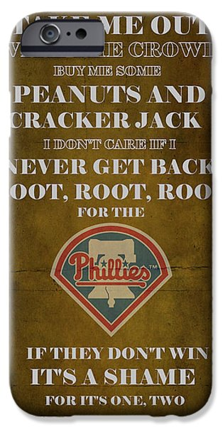 Phillies Peanuts and Cracker Jack  iPhone Case by Movie Poster Prints