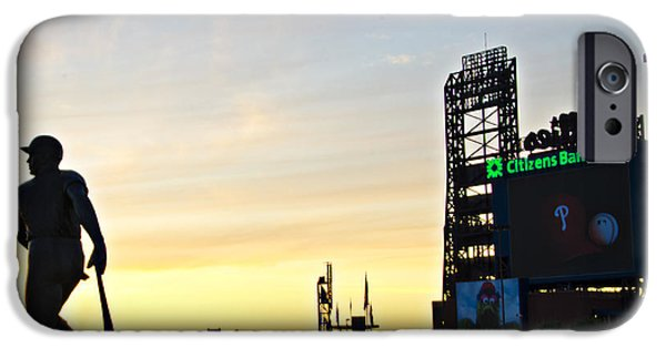Citizens Bank Park iPhone Cases - Phillies Stadium at Dawn iPhone Case by Bill Cannon
