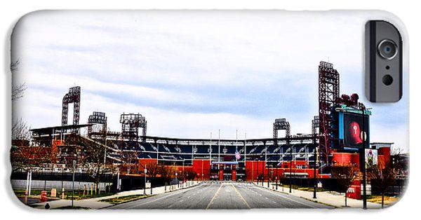 Baseball. Philadelphia Phillies iPhone Cases - Phillies Stadium - Citizens Bank Park iPhone Case by Bill Cannon