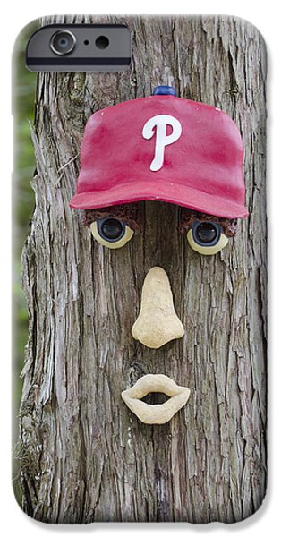 Baseball. Philadelphia Phillies iPhone Cases - Phillies Tree of Life iPhone Case by Bill Cannon