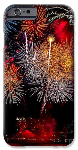 Independance Photographs iPhone Cases - Philly Fireworks 2014 iPhone Case by Nick Zelinsky