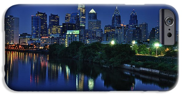 Schuylkill iPhone Cases - Philly Skyline iPhone Case by Mark Fuller