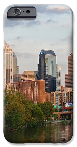 Philly summer skyline iPhone Case by Jennifer Lyon