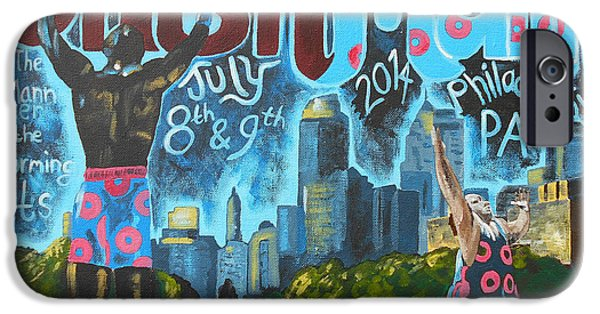 Philadelphia Paintings iPhone Cases - PhishMann iPhone Case by Kevin J Cooper Artwork