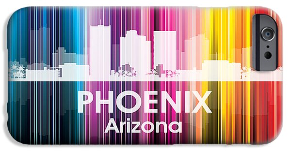 Buildings Mixed Media iPhone Cases - Phoenix AZ 2 iPhone Case by Angelina Vick