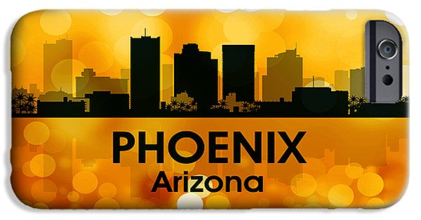 Buildings Mixed Media iPhone Cases - Phoenix AZ 3 iPhone Case by Angelina Vick