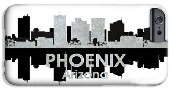 Buildings Mixed Media iPhone Cases - Phoenix AZ 4 iPhone Case by Angelina Vick