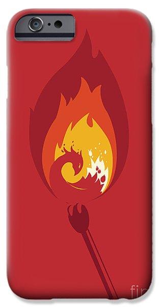 Phoenix iPhone Cases - Phoenix iPhone Case by Budi Kwan