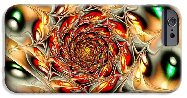 Phoenix iPhone Cases - Phoenix Feather iPhone Case by Anastasiya Malakhova