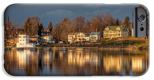 Phoenix iPhone Cases - Reflection of a Village - Phoenix NY iPhone Case by Everet Regal