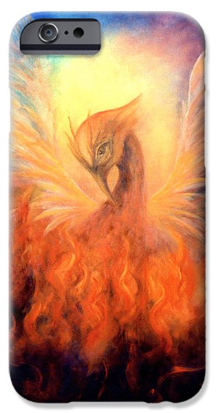 Resurrection iPhone Cases - Phoenix Rising iPhone Case by Marina Petro