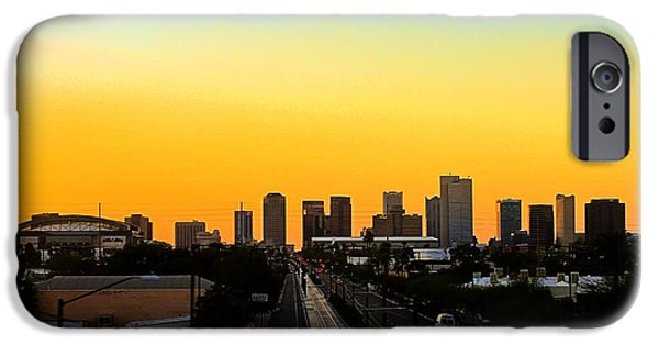 Big Blue Marble iPhone Cases - Phoenix Skyline iPhone Case by Kelly Gibson