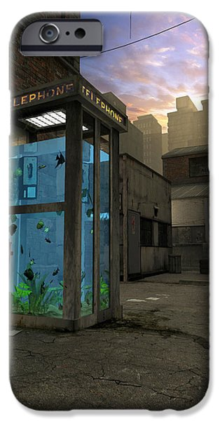 Aquarium iPhone Cases - Phone Booth iPhone Case by Cynthia Decker