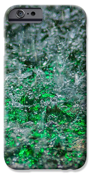 Effervescence iPhone Cases - Phone Case - Liquid Flame - Green 2 - Featured 2 iPhone Case by Alexander Senin