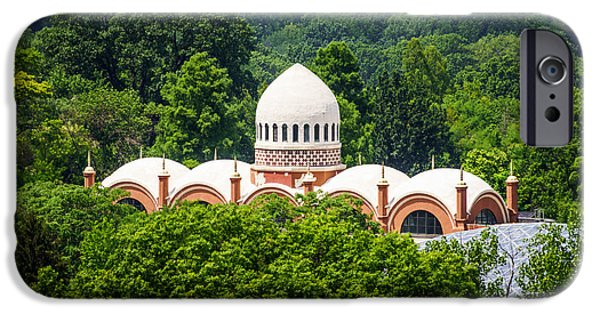 Elephants iPhone Cases - Photo of Elephant House at Cincinnati Zoo iPhone Case by Paul Velgos
