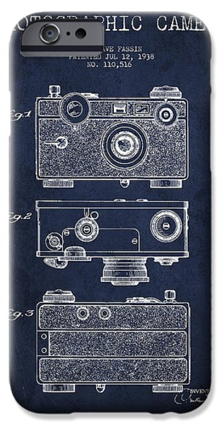Camera iPhone Cases - Photographic Camera Patent Drawing from 1938 iPhone Case by Aged Pixel