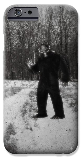 Hallmark iPhone Cases - Photographic Evidence of Big Foot iPhone Case by Edward Fielding