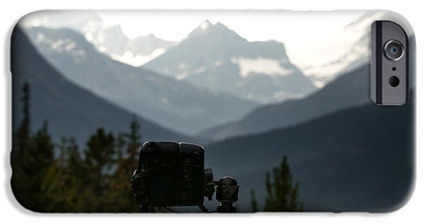 Behind The Scene Photographs iPhone Cases - Photographing the Tonquin Valley iPhone Case by Cale Best