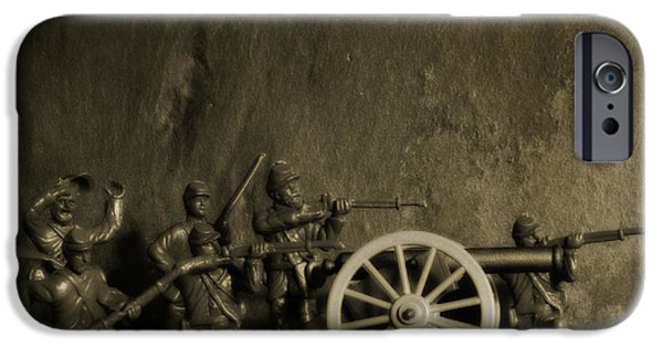 Army Men iPhone Cases - Photos From the Front Civil War Three iPhone Case by Randy Steele