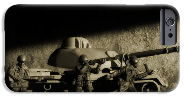 Army Men iPhone Cases - Photos From the Front World Wars Tank iPhone Case by Randy Steele