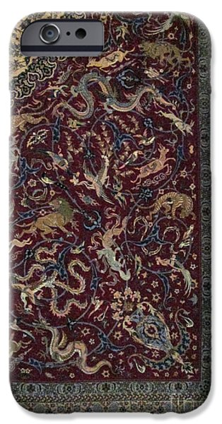 Persian Carpet iPhone Cases - Photos of Persian Antique Rugs Kilims Carpets  iPhone Case by Persian Art