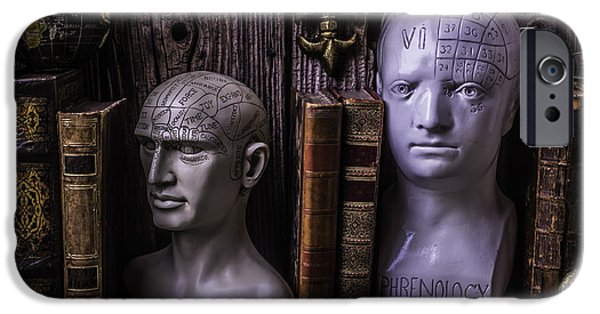 Personalities Photographs iPhone Cases - Phrenology Still Life iPhone Case by Garry Gay