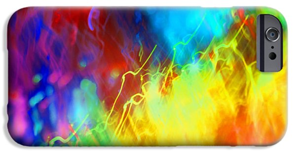 Rainbow Colors iPhone Cases - Physical Graffiti 1Full Image iPhone Case by Dazzle Zazz