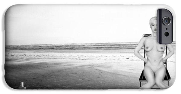 Survivor Art iPhone Cases - Physical Manifestations - Self Portrait iPhone Case by Jaeda DeWalt